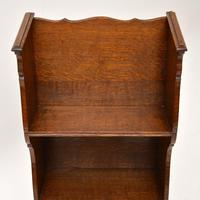 Antique Arts & Crafts Oak  Open  Bookcase (12 of 12)