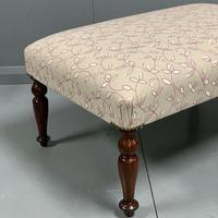 Newly upholstered Victorian footstool (3 of 5)