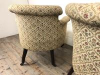 Victorian Three Piece Suite with Gold Floral Upholstery (24 of 26)