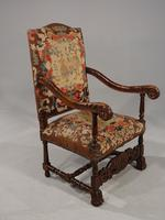 Well Carved Early 20th Century Oak Throne Type Chair (2 of 7)