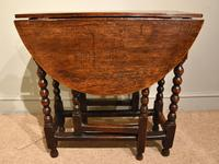 Late 17th Century Elm Drop Leaf Table (5 of 5)