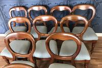 Set of 10 Victorian Balloon Back Chairs (4 of 10)