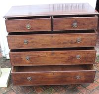 1900's Mahogany Chest Drawers with Inlay on Bracket Feet (2 of 4)