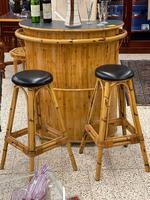 Retro French Bamboo Cocktail Bar & Stools (2 of 8)