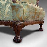 Antique Wing-Back Armchair, English, Lounge, Fireside, Seat, Edwardian c.1910 (5 of 12)