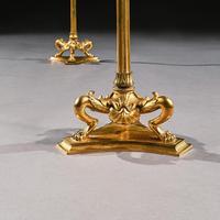 Elegant Pair of 19th Century Gilt Brass Candelabra by Elkington & Co (8 of 9)