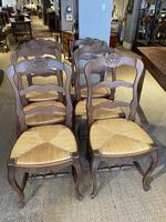 Set of Six Oak Chairs