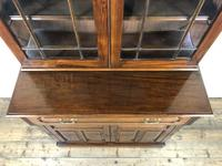 Antique 19th Century Two Stage Mahogany Bookcase (11 of 19)