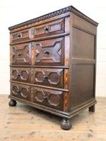 Antique Geometric Oak Chest of Drawers (6 of 10)