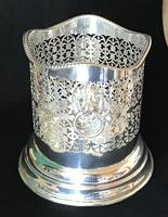Silver Plate on Copper Reticulated Bottle Holder (4 of 5)