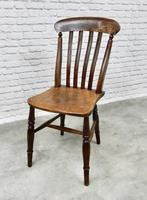 Set of 4 Antique Windsor Lathback Kitchen Chairs (5 of 5)