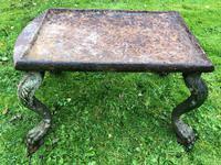 French 18th Century Georgian Grand Tour Garden Cast Iron Plinth Table Claw Feet (29 of 33)