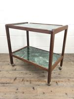 Two Tier Faux Marble Drinks Trolley (M-1584) (6 of 6)