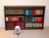Oak Open Bookcase c 1930 (5 of 12)
