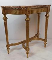 19th Century Gilt Marble Topped Console Table (2 of 4)