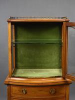 Edwardian Mahogany  Bowfront Display Cabinet (6 of 10)