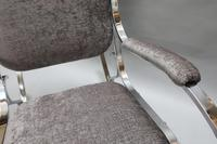 French Mid-Century Chrome Rocking Chair by Maison Jansen (2 of 7)