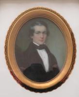 Miniature Portrait Victorian Gentleman 1880 Hand Painted (4 of 4)