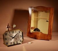 French Oak Signed Odo Automaton Striking Wall Clock (3 of 6)