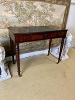 Victorian Mahogany Writing Desk with Green Leather (2 of 9)