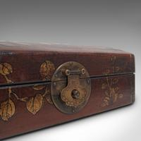 Antique Jewellery Box, Japanese, Leather, Desk Caddy, Meiji Period c.1900 (12 of 12)