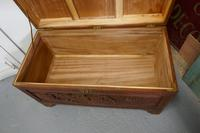 Carved Oriental Camphor Wood Chest (3 of 8)