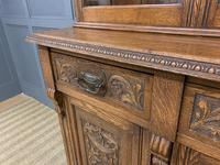 Victorian Carved Oak 3 Door Bookcase (11 of 23)