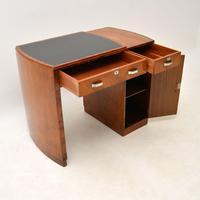 Art Deco Figured Walnut & Leather Desk (11 of 12)