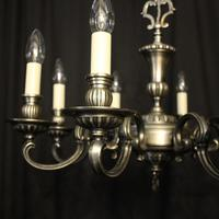 French Brass Silver Plated 8 Light Chandelier (2 of 10)