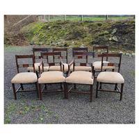 Fine Set of 8 Georgian Mahogany Dining Chairs
