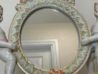Pair of Small Dresden Victorian Style Porcelain Cherub Table Mirrors (44 of 60)