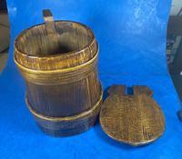 19th Century Beech & Pine Treen Tankard (10 of 11)