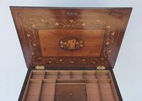 Rare 19th Century Marquetry Inlaid Irish Killarney Work Box or Table (5 of 13)