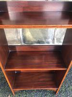 Edwardian Inlaid Mahogany Slim Open Bookcase (2 of 7)