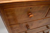Large Antique Victorian Satinwood Chest of Drawers (8 of 16)