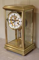 Bell Striking Brass Four Glass Clock (4 of 9)