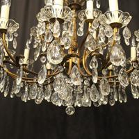 Italian 18 Light Gilded Brass Antique Chandelier (8 of 10)