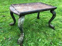 French 18th Century Georgian Grand Tour Garden Cast Iron Plinth Table Claw Feet (32 of 33)