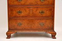 Antique Burr Elm Chest on Chest of Drawers (9 of 10)
