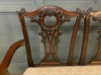 Mahogany Chippendale Style Triple Chair Back Settee (12 of 18)