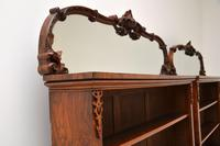 Pair of Antique Victorian Burr Walnut Mirrored Bookcases (9 of 13)