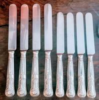 Elkington & Co Birmingham Solid Silver 36 Piece Cutlery Set 1959 (6 of 10)