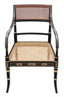 19th Century Regency Decorated Elbow Hall / Side Chair (2 of 9)