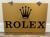 Rolex Shop Front Adverting Heavy Swinging Sign Mayfair London (24 of 27)