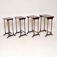Antique Mahogany Nest of Four Tables (2 of 12)