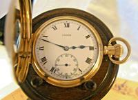 Pocket Watch 1937 Swiss 15 Jewel 9ct Rose Gold Filled Half Hunter FWO (3 of 12)