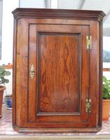 Country Oak Formal Hanging Corner Cupboard 1760 (10 of 10)