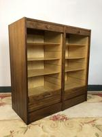 Vintage French Mid Century Filing Cabinet Tambour Roller (8 of 11)