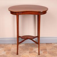 Edwardian Inlaid Mahogany Kidney Shape Occasional Table (2 of 15)