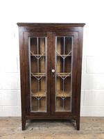 Early 20th Century Antique Glazed Oak Cabinet